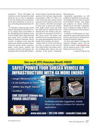 Marine Technology Magazine, page 27,  Apr 2014 Cheri Koch