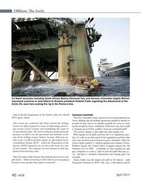 Marine Technology Magazine, page 40,  Apr 2014 William Sound