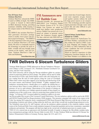 Marine Technology Magazine, page 54,  Apr 2014 Ted Ger