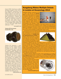 Marine Technology Magazine, page 55,  Apr 2014 tion technology