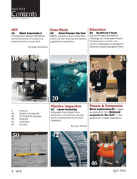 Marine Technology Magazine, page 4,  Apr 2014 Chris Linder