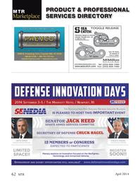 Marine Technology Magazine, page 62,  Apr 2014 Arizona