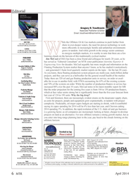 Marine Technology Magazine, page 6,  Apr 2014 Laser