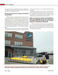 Marine Technology Magazine, page 22,  May 2014 Australia
