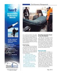 Marine Technology Magazine, page 38,  May 2014