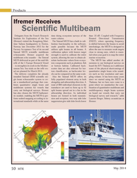 Marine Technology Magazine, page 50,  May 2014