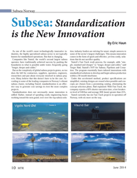 Marine Technology Magazine, page 10,  Jun 2014