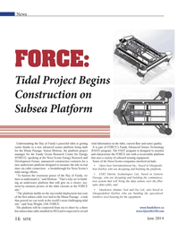 Marine Technology Magazine, page 16,  Jun 2014