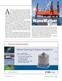 Marine Technology Magazine, page 23,  Jun 2014 product/equipment