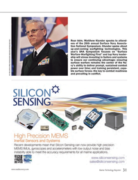 Marine Technology Magazine, page 31,  Jun 2014 up-and-coming warfi ghting technologies