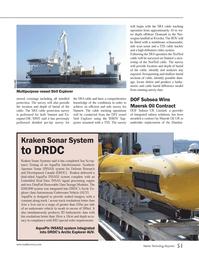Marine Technology Magazine, page 51,  Jun 2014 signal processing engine
