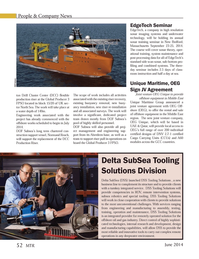 Marine Technology Magazine, page 52,  Jun 2014 Delta SubSea Tooling Solutions Division