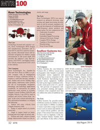 Marine Technology Magazine, page 32,  Jul 2014