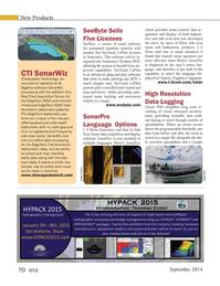 Marine Technology Magazine, page 70,  Sep 2014