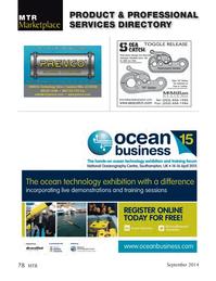 Marine Technology Magazine, page 78,  Sep 2014