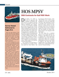 Marine Technology Magazine, page 14,  Oct 2014