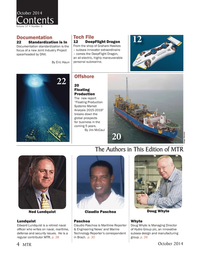Marine Technology Magazine, page 4,  Oct 2014