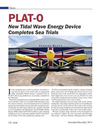 Marine Technology Magazine, page 14,  Nov 2014