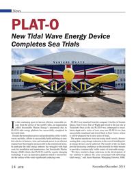 Marine Technology Magazine, page 14,  Nov 2014