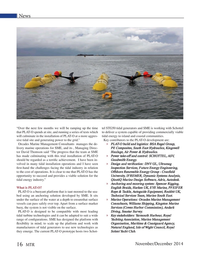 Marine Technology Magazine, page 16,  Nov 2014