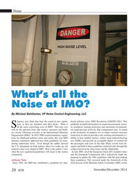 Marine Technology Magazine, page 20,  Nov 2014
