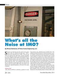 Marine Technology Magazine, page 20,  Nov 2014