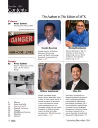 Marine Technology Magazine, page 4,  Nov 2014