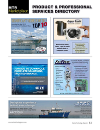 Marine Technology Magazine, page 61,  Nov 2014