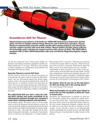 Marine Technology Magazine, page 12,  Jan 2015