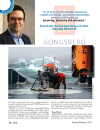 Marine Technology Magazine, page 16,  Jan 2015