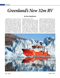 Marine Technology Magazine, page 16,  Mar 2015