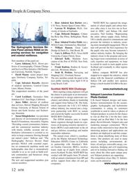 Marine Technology Magazine, page 12,  Apr 2015