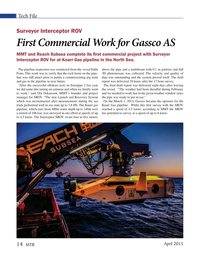 Marine Technology Magazine, page 14,  Apr 2015