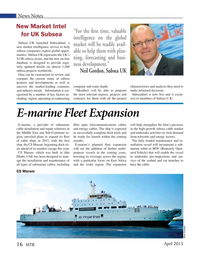 Marine Technology Magazine, page 16,  Apr 2015