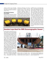 Marine Technology Magazine, page 12,  May 2015