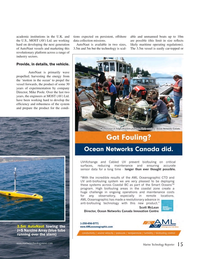 Marine Technology Magazine, page 15,  May 2015