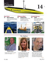 Marine Technology Magazine, page 4,  May 2015