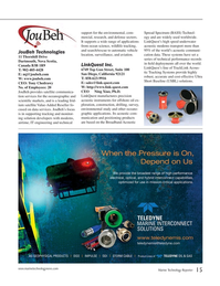 Marine Technology Magazine, page 15,  Jul 2015