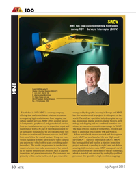 Marine Technology Magazine, page 30,  Jul 2015