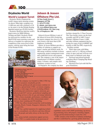 Marine Technology Magazine, page 6,  Jul 2015
