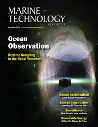 Marine Technology Magazine Cover Sep 2015 - Ocean Observation: Gliders, Buoys & Sub-Surface Networks