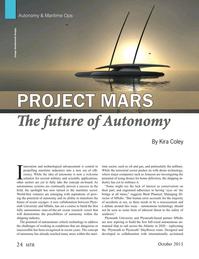Marine Technology Magazine, page 24,  Oct 2015