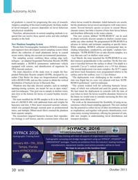 Marine Technology Magazine, page 30,  Oct 2015