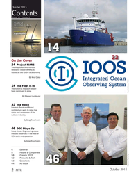 Marine Technology Magazine, page 2,  Oct 2015