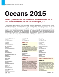 Marine Technology Magazine, page 58,  Oct 2015