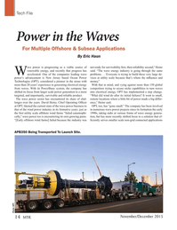 Marine Technology Magazine, page 14,  Nov 2015