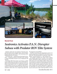 Marine Technology Magazine, page 52,  Nov 2015