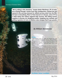 Marine Technology Magazine, page 30,  May 2016