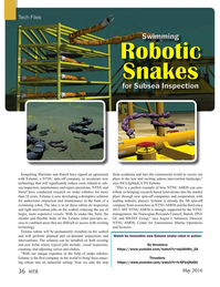 Marine Technology Magazine, page 36,  May 2016