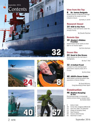 Marine Technology Magazine, page 2,  Sep 2016